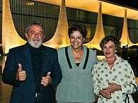 Dilma recebeu o ex-presidente Lula e a ex-primeira-dama Marisa Letícia no Palácio da Alvorada. Foto: Divulgação