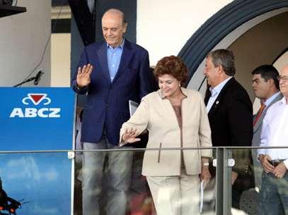 Os pré-candidatos à presidênciase encontraram em Uberaba, Minas Gerais. Foto: L. Adolfo/Futura Press