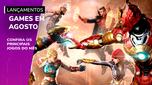 Confira os lançamentos de games em agosto