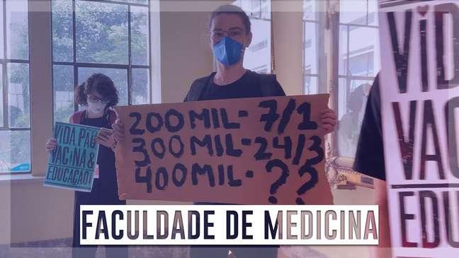 Marcelo Queiroga é recebido com protestos na USP