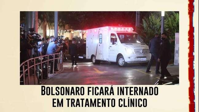 Bolsonaro ficará internado em tratamento clínico, diz boletim médico