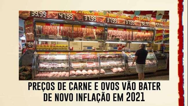 Com altas de até 17%, preços de carne e ovos vão bater de novo inflação em 2021