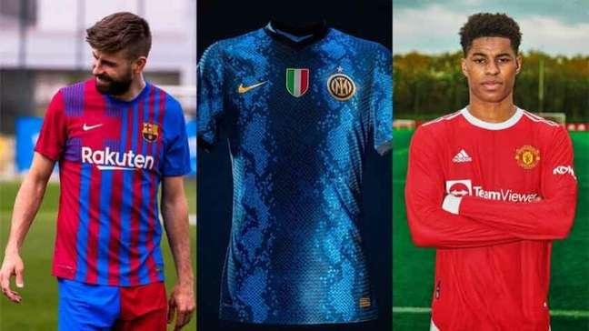 As camisas já reveladas dos clubes europeus para a próxima temporada