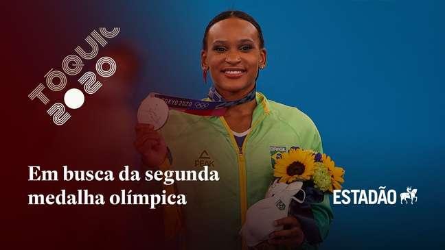 Rebeca Andrade disputa mais uma final com chances de novo pódio