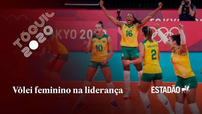 Brasil vence Sérvia no vôlei feminino e assume liderança do Grupo A