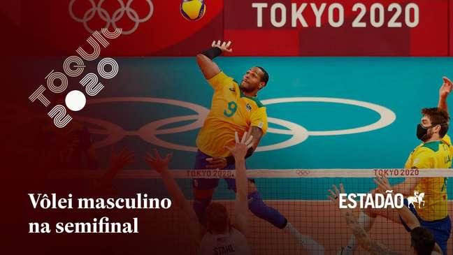 Brasil enfrentará o Comitê Olímpico Russo na semifinal do vôlei masculino