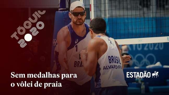 Alison e Álvaro são eliminados nas quartas de final do vôlei de praia