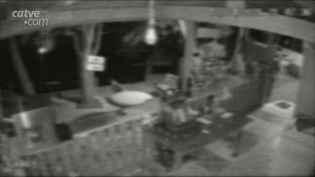 Câmeras de segurança flagram furto em pesqueiro