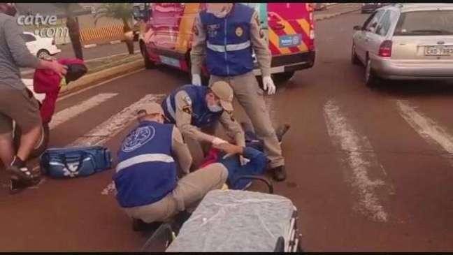 Ciclista fica ferido em acidente de trânsito em Toledo