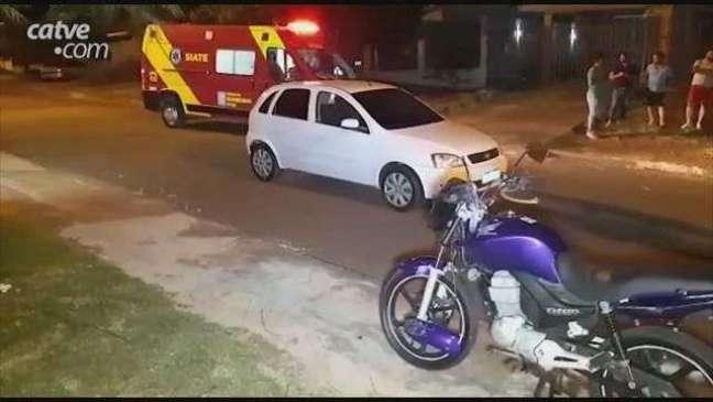 Motociclista fica ferido em acidente de trânsito no Bairro Santa Cruz em Cascave