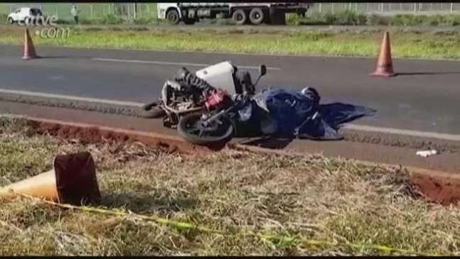 Acidente BR 467: motorista alega não ter visto motociclista