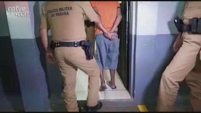 Homem é detido com mandado de prisão em aberto no Bairro Gramado em Cascavel