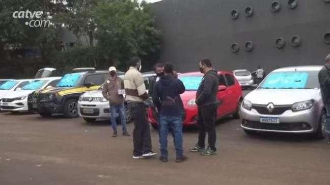 Maio Amarelo: motoristas participam de ação em Foz do Iguaçu