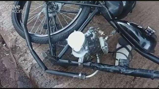 Acidente entre moto e bicicleta motorizada deixa jovem ferido em Toledo