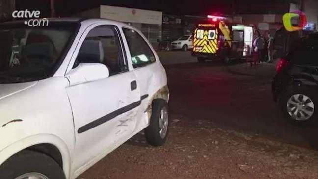 Gestante é atendida pelo Siate após acidente de trânsito no Periolo