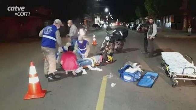 Motociclista sofre fratura exposta após acidente de trânsito no São Cristóvão