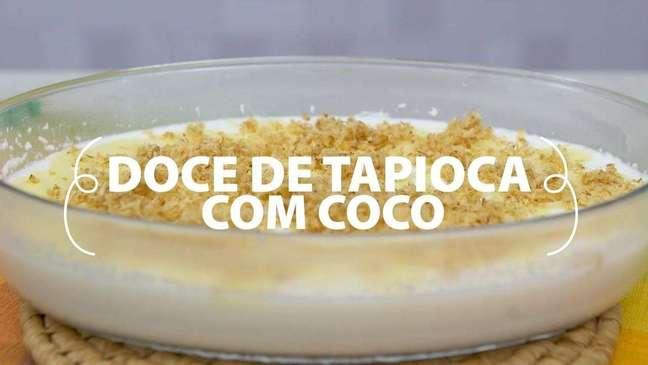 Doce de tapioca com coco