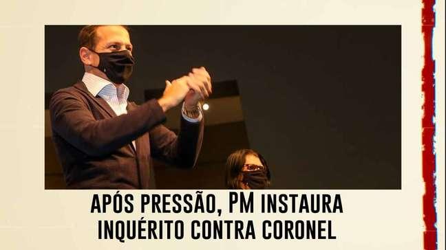 Após pressão, PM instaura inquérito contra coronel; Doria quer usar caso como exemplo
