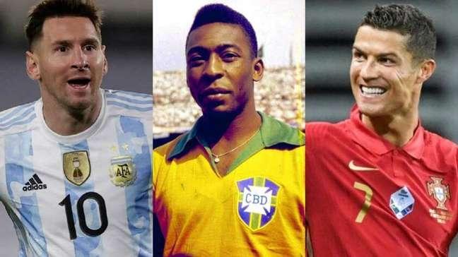 Quem é o maior jogador de todos os tempos? Algoritmo diz se é Messi, Pelé ou CR7