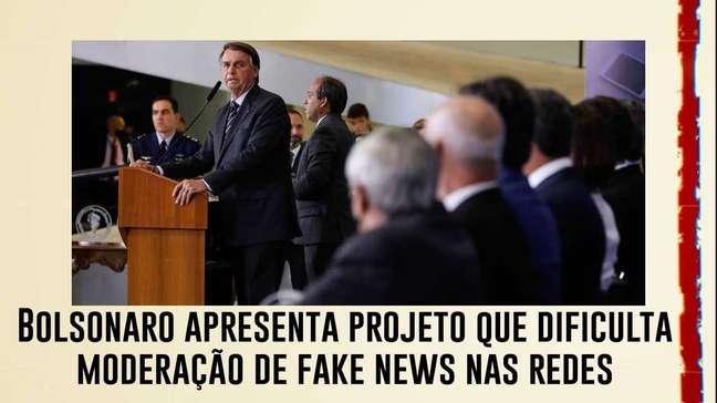 Após derrota com MP, Bolsonaro apresenta projeto que dificulta moderação de fake news nas redes