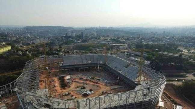 41% de conclusão: veja como estão as obras do novo estádio do Atlético-MG